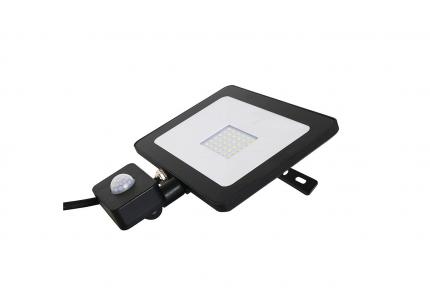 30W PIR SLIMLINE IP65 BLACK LED FLOODLIGHT 4000K