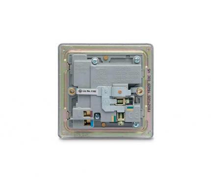 BG Electrical Brushed Chrome Single Socket with USB