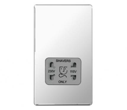 BG Electrical Polished Chrome Shaver Socket