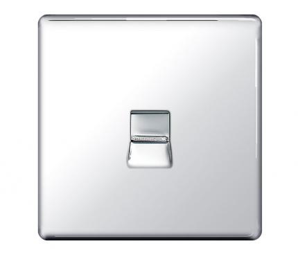 BG Electrical Polished Chrome Telephone Secondary Single