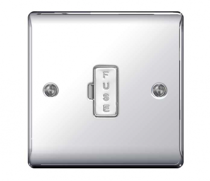 BG Electrical Polished Chrome Unswitched Spur
