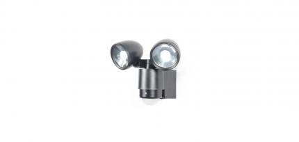 ZN-23454-BLK - Sirocco 2lt LED Spotlight /w Pir Blk