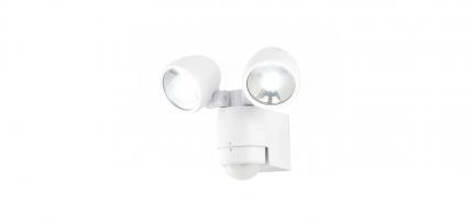 ZN-23454-WHT - Sirocco 2lt LED Spotlight /w Pir Wht